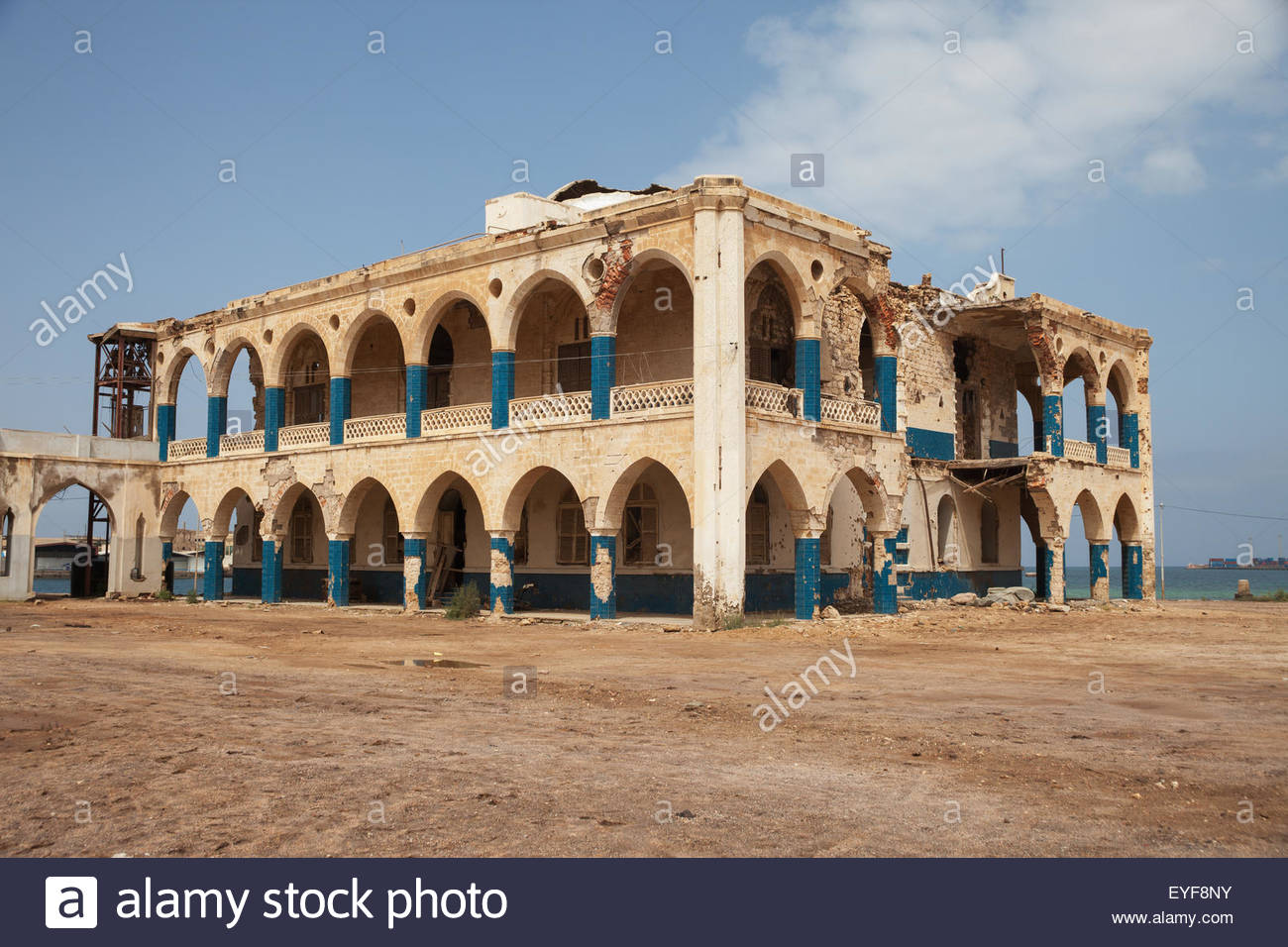Imperial Palace Massawa, Ruined Imperial palace of Haile Selassie; Taulud Island, Massawa ...