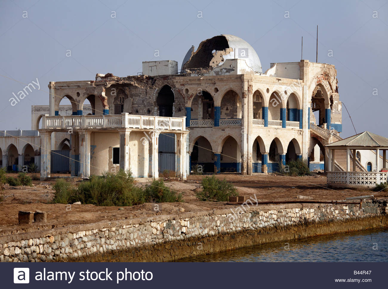 Imperial Palace Massawa, The destroyed Imperial Palace in the coastal town of Massawa ...