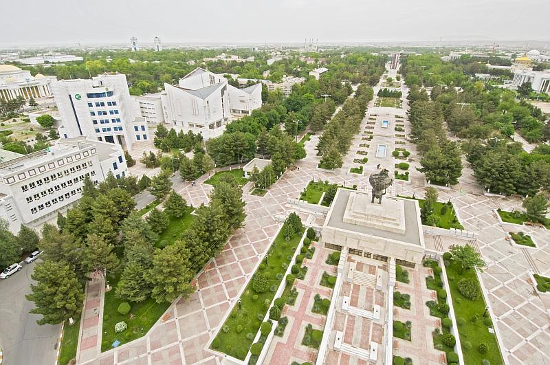 Independence Square Ashgabat, Royalty Free Stock Photograph : View over Independence Square and ...