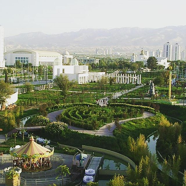 Independence Square Ashgabat, Ashgabat has many parks and open spaces mainly established in the ...