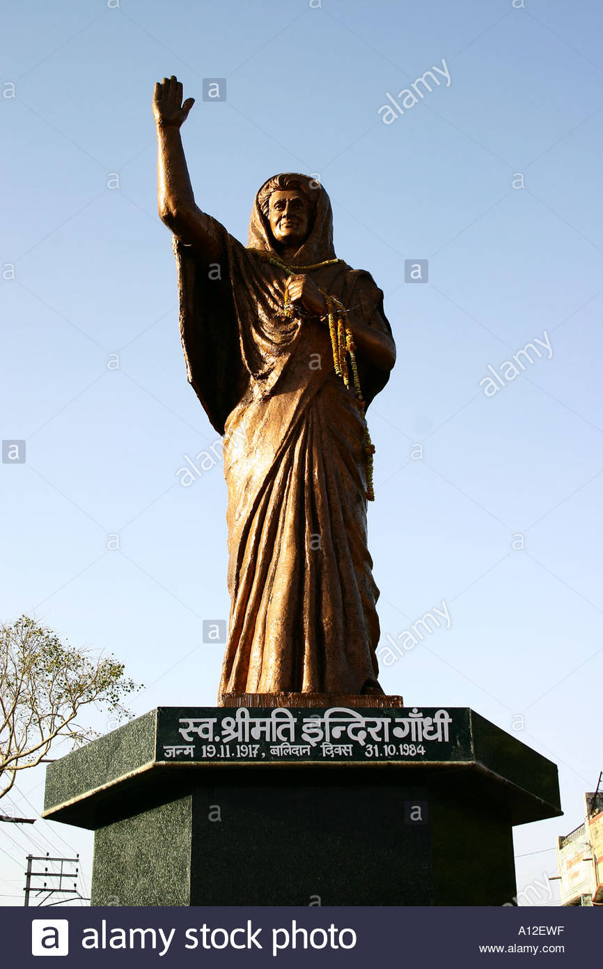 Indira Gandhi Statue Ujjain, RSC75161 Statue of Ex prime minister and Leader of Congress Party ...