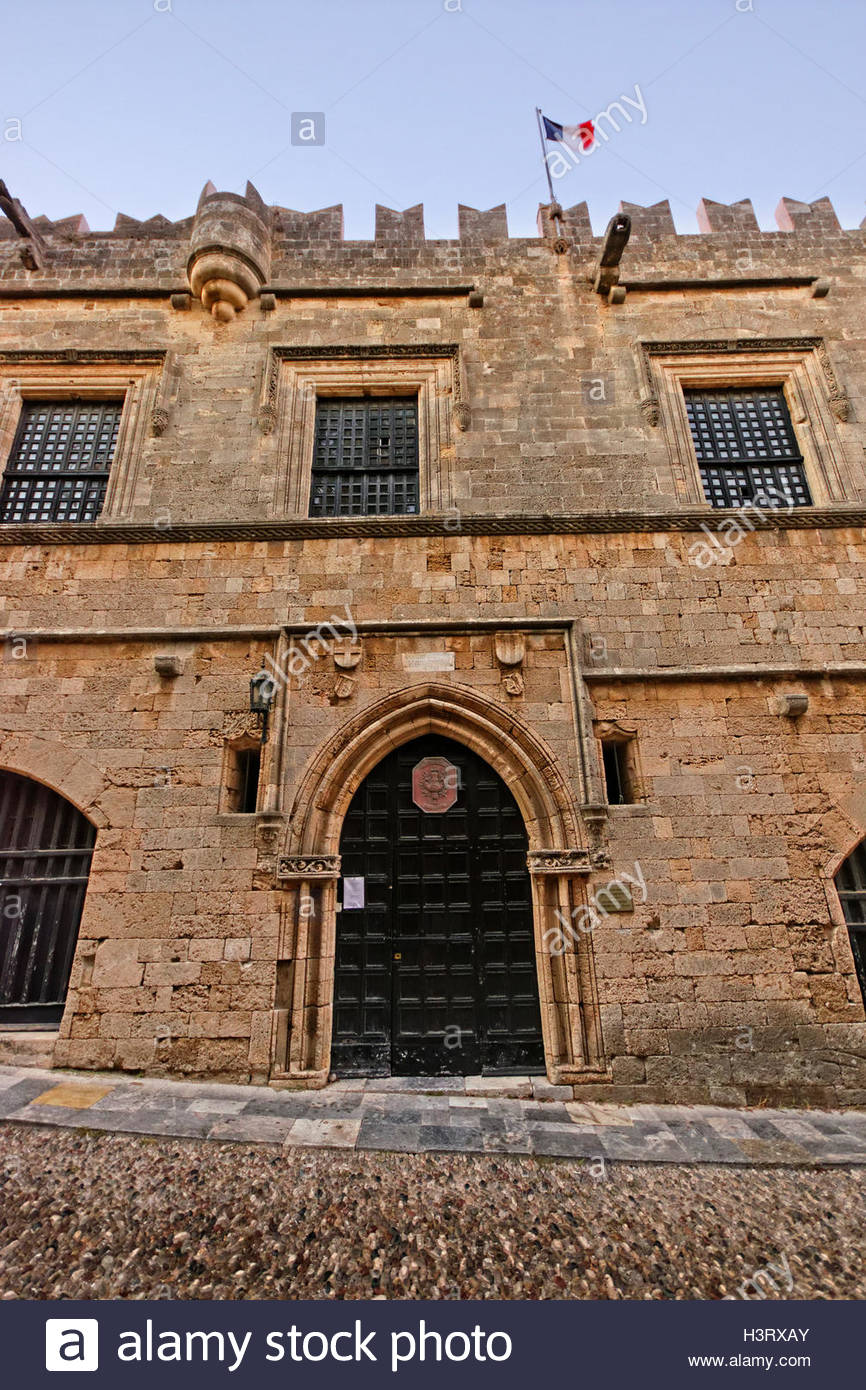 Inn of France Rhodes Town, Entrance to the French Inn on the 'Avenue of the Knights' in ...