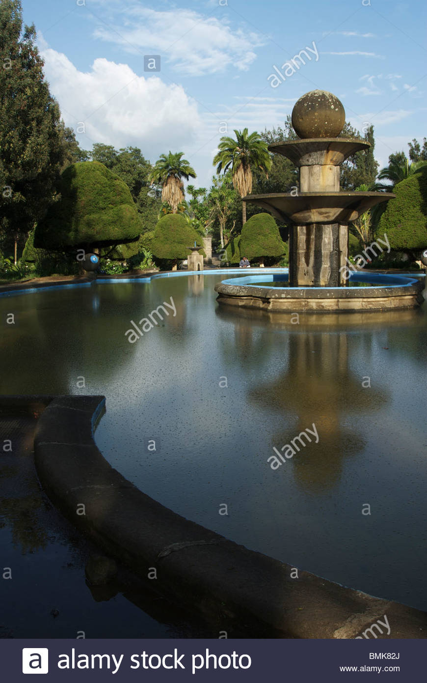 Institute of Ethiopian Studies Addis Ababa, Ethiopia: Addis Ababa, fountain outside the Anthropology Museum of ...