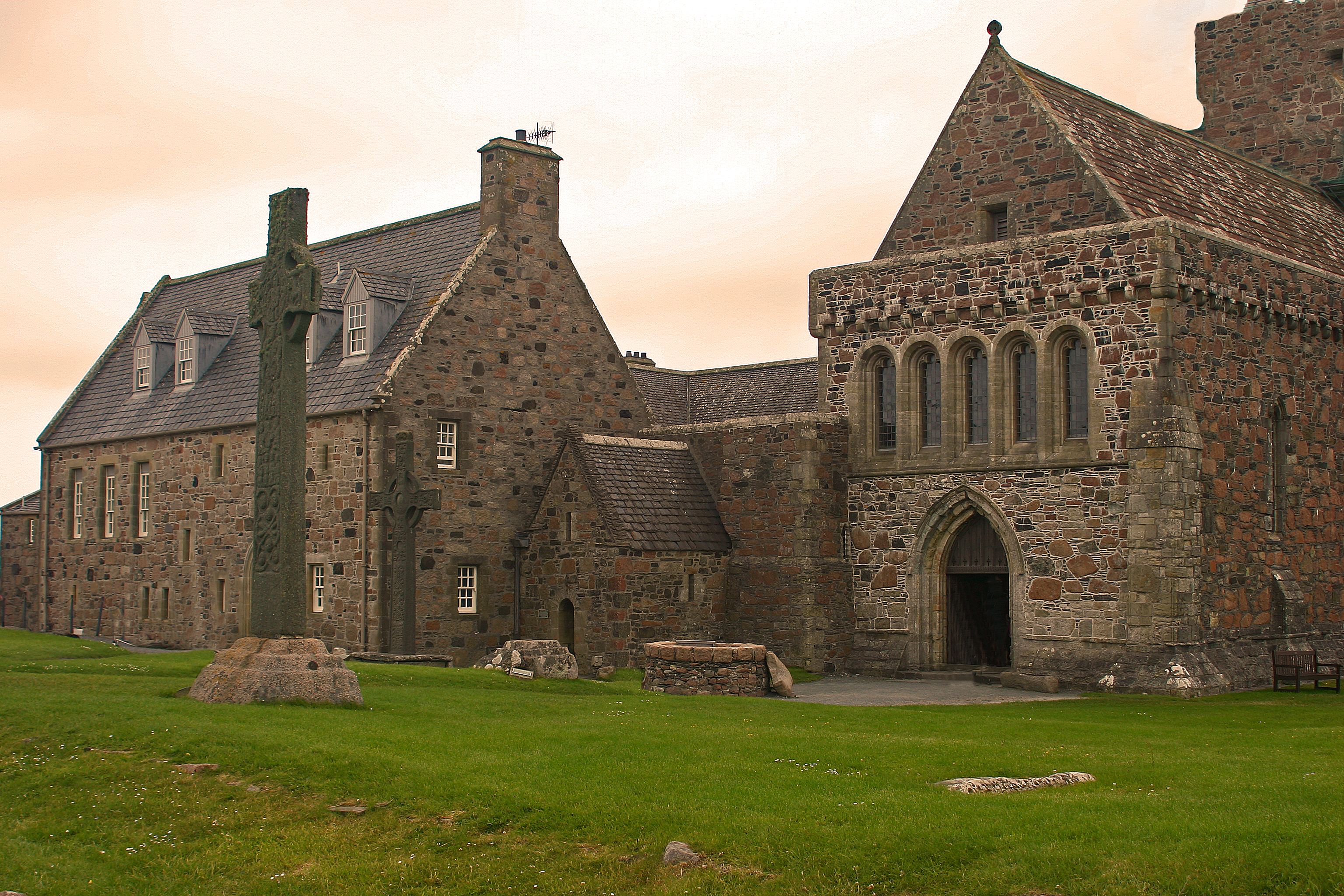 """Iona Abbey Iona, Columba says, """"Take that, Loch Ness Monster!"""" – Doxology – by Eric ..."""