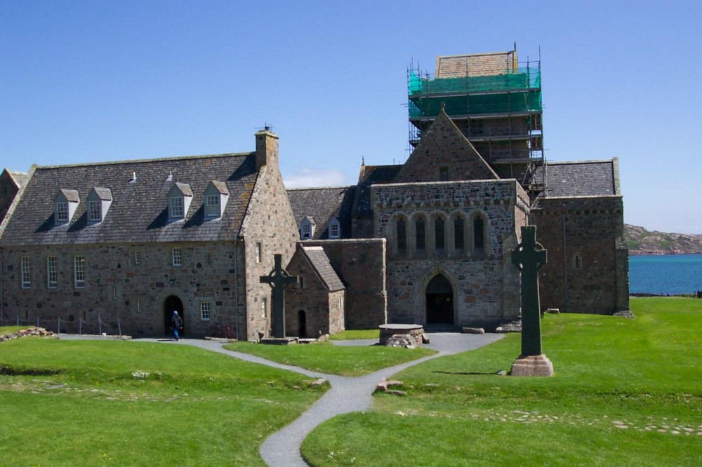 Iona Abbey Iona, Iona Abbey on the Isle of Iona is one of Cristianitie's most ...
