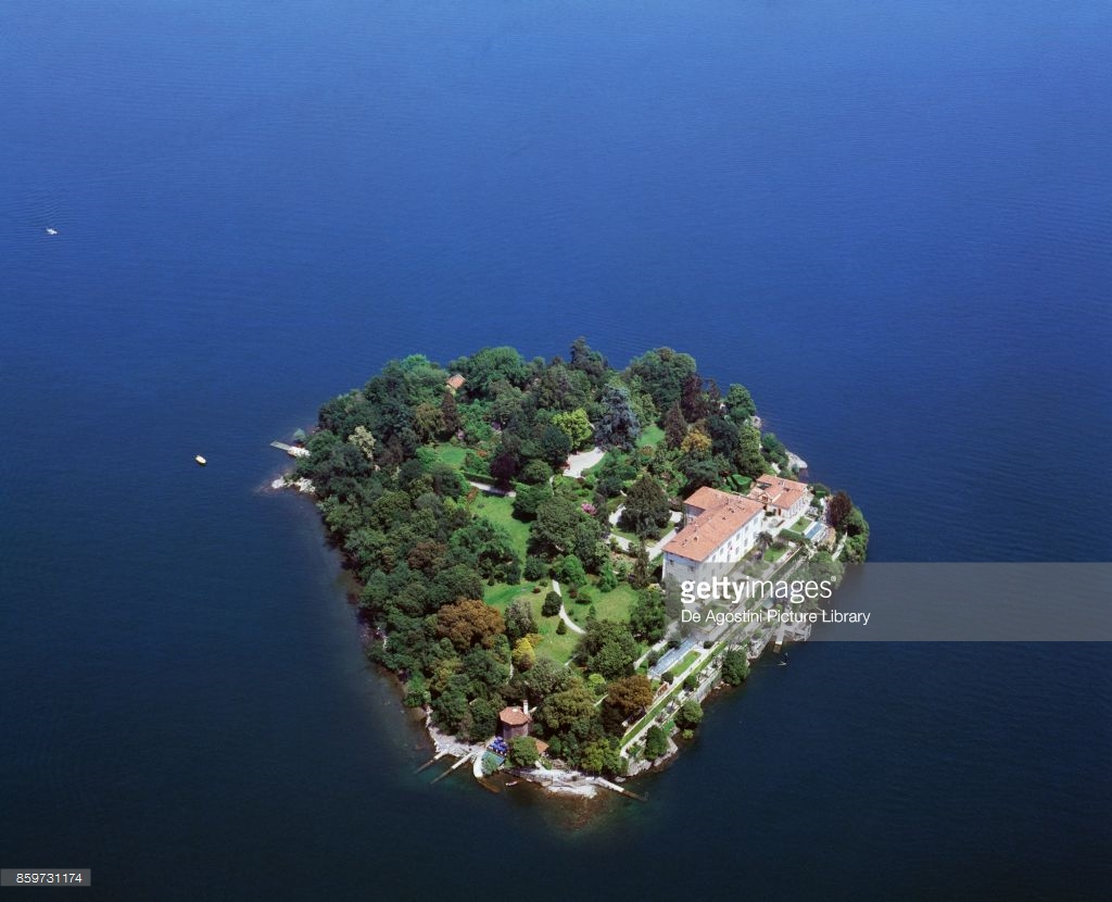 Isola Madre Borromean Islands, Aerial view of Isola Madre in Lake Maggiore, Borromean Islands ...