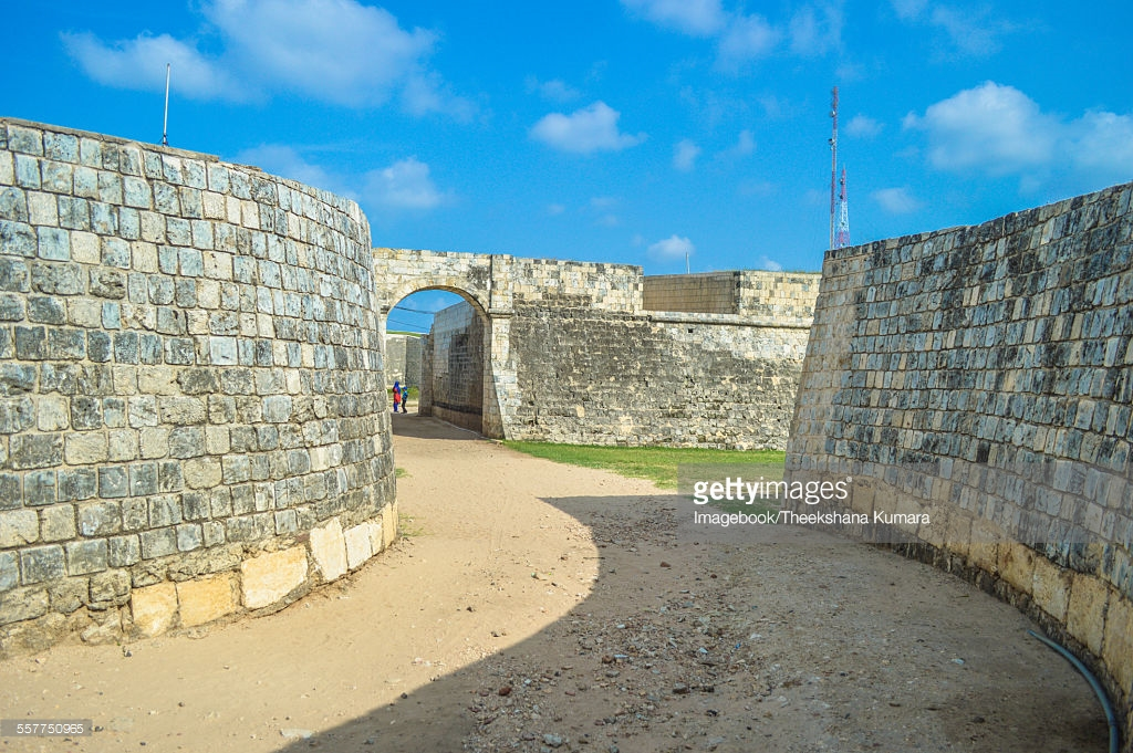 Jaffna Fort Jaffna, Jaffna Fort Built By The Dutch In 1680 And Moat Stock Photo ...