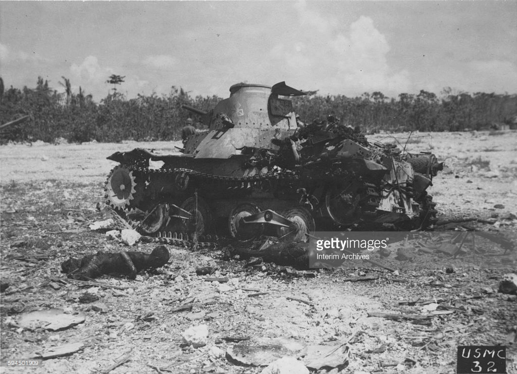 Japanese Tank Peleliu, Halted And Destroyed Pictures | Getty Images