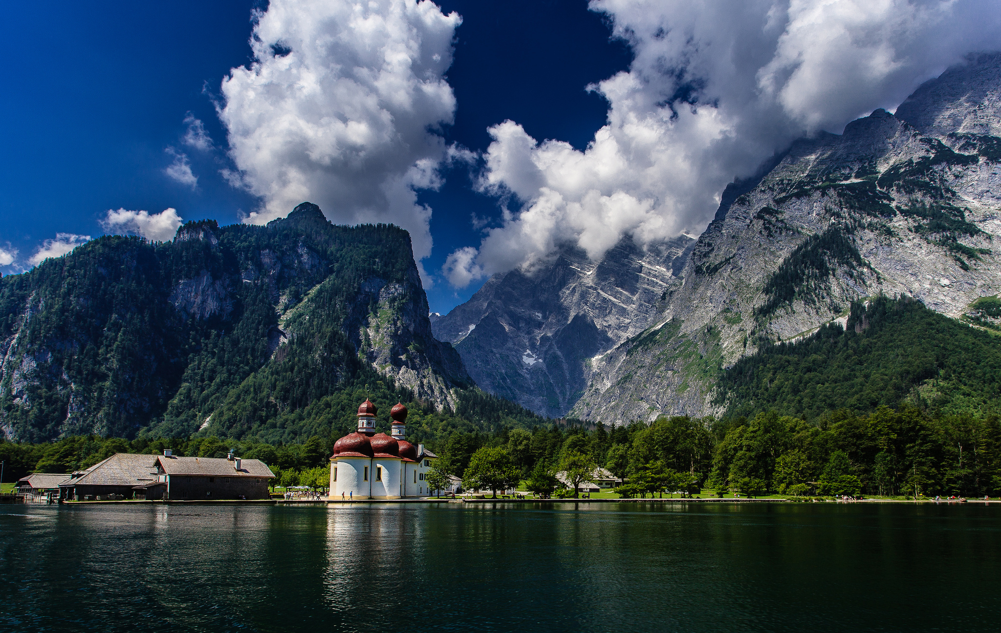 Königssee The Bavarian Alps, bavaria wallpaper | ... bavaria, germany, königssee lake, watzmann ...