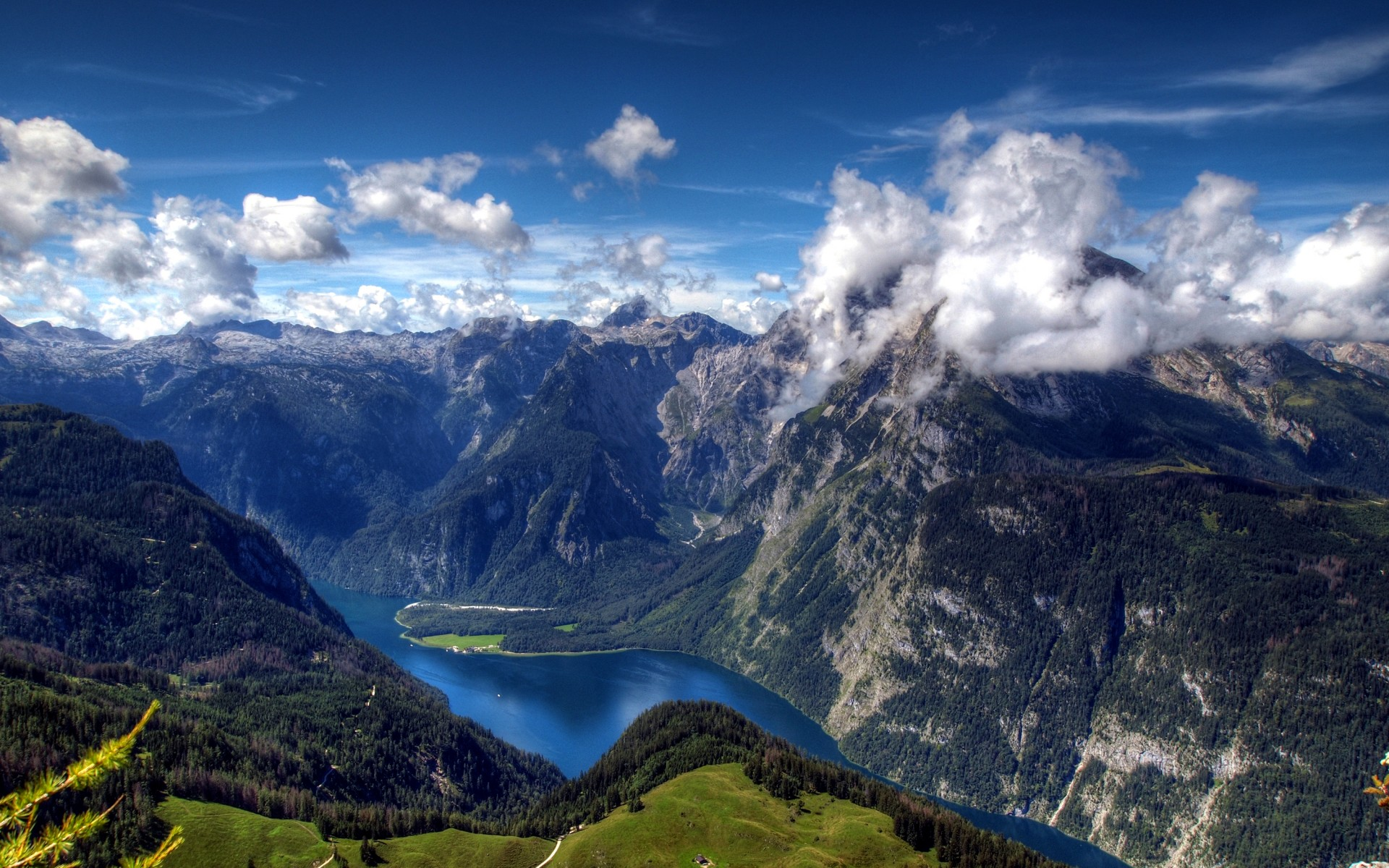 Königssee The Bavarian Alps, Wallpaper Lake Königssee, Watzmann Mountain, Bavarian Alps, HD ...