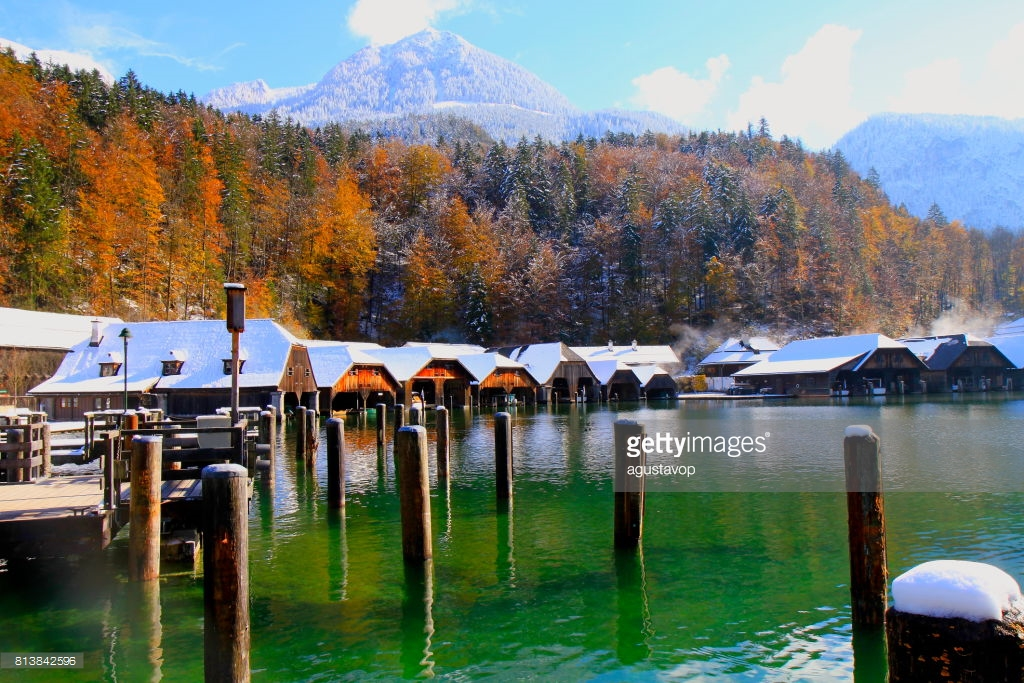 Königssee The Bavarian Alps, Bavarian Alps Konigssee Lake Idyllic Landscape Majestic Alps ...