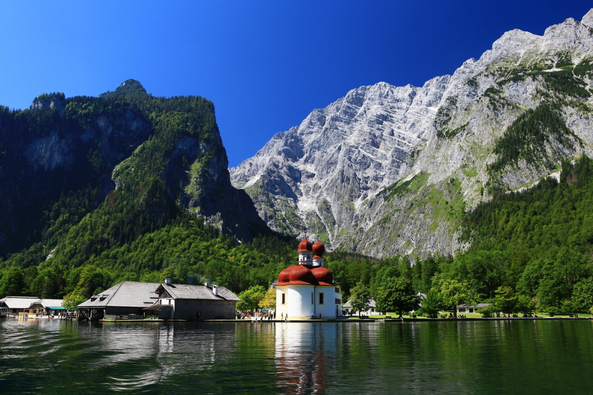 Königssee The Bavarian Alps, st bartholomew church bavaria germany königssee lake watzmann ...