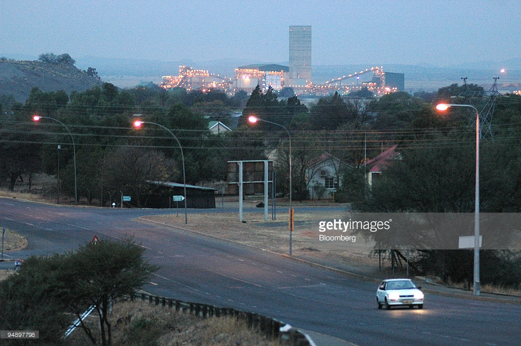 Karoo National Botanical Garden The Western Cape, The De Beer's Bultfontein mine seen in the early evening in ...