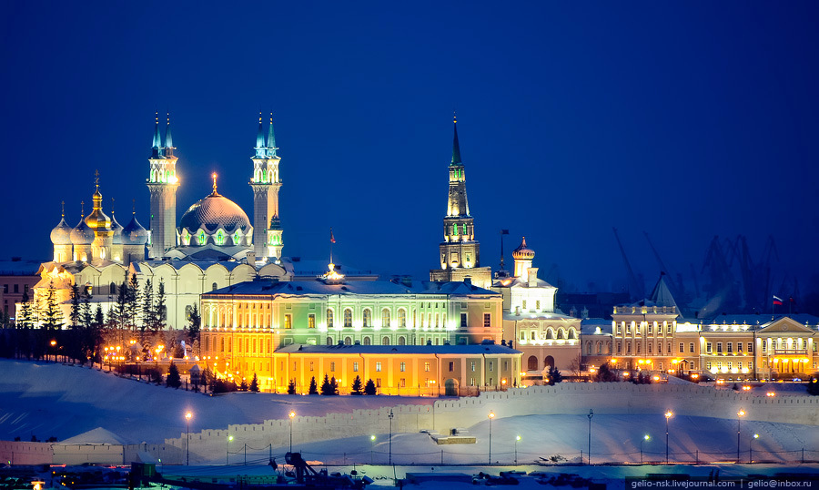 Kazan Kremlin Kazan, Winter Kazan from bird's eye view · Russia travel blog