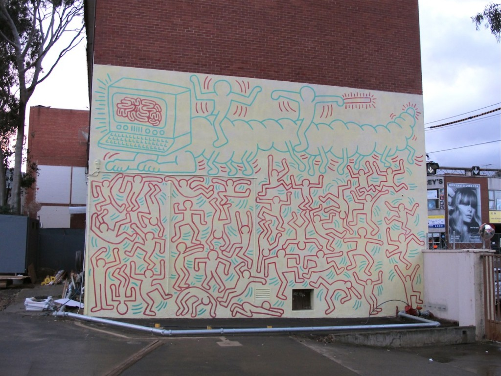Keith Haring Mural Melbourne, LAND OF SUNSHINE BLOG 3RD BIRTHDAY | LAND OF SUNSHINE