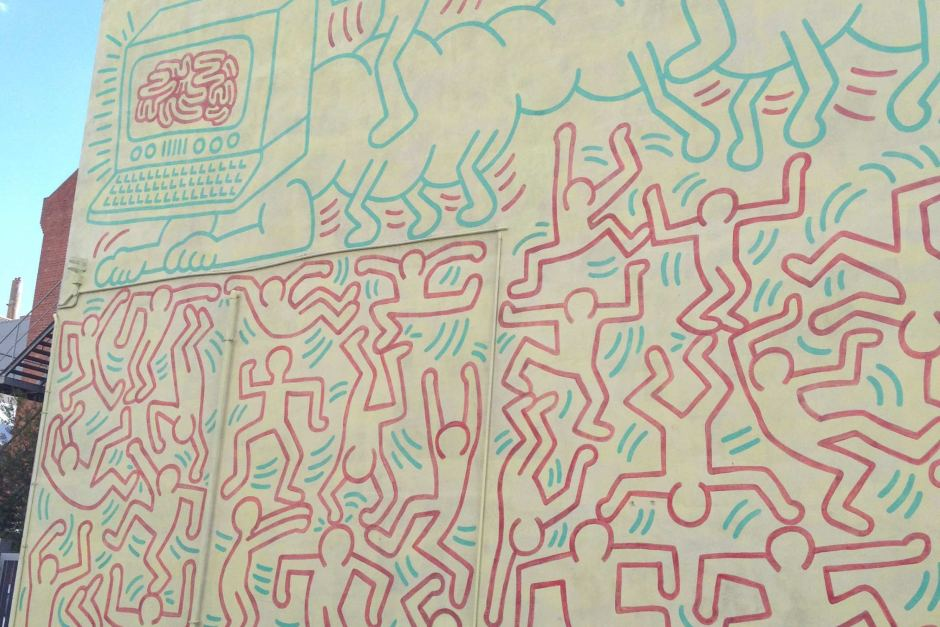 Keith Haring Mural Melbourne, A Keith Haring mural in the Melbourne suburb of Collingwood has ...