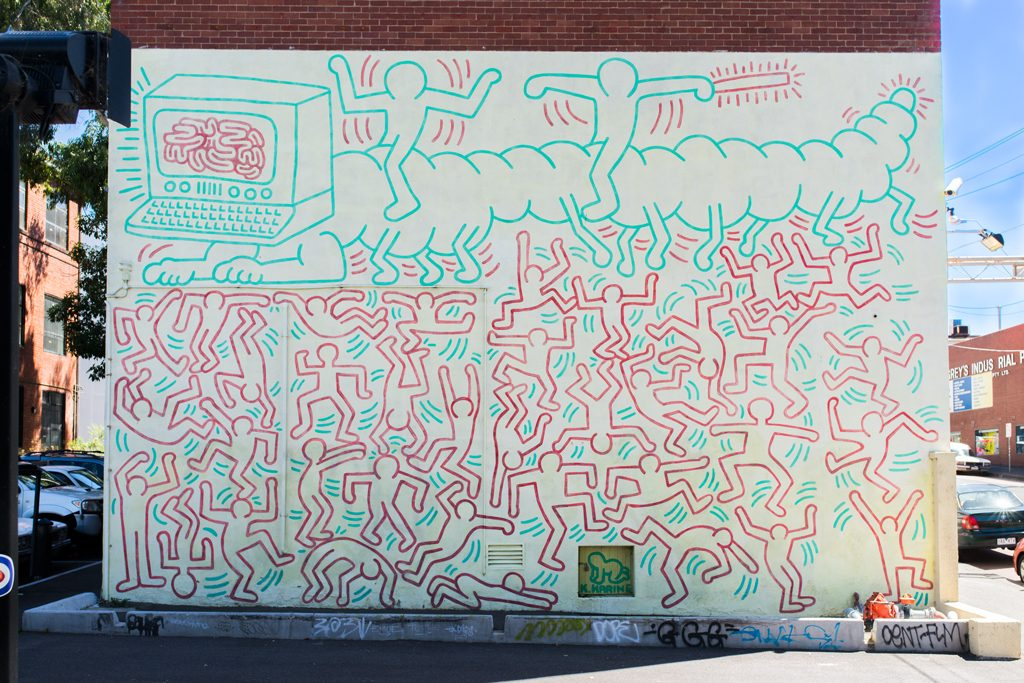 Keith Haring Mural Melbourne, Melbourne: 12 tips for the trendy districts Collingwood & Fitzroy ...