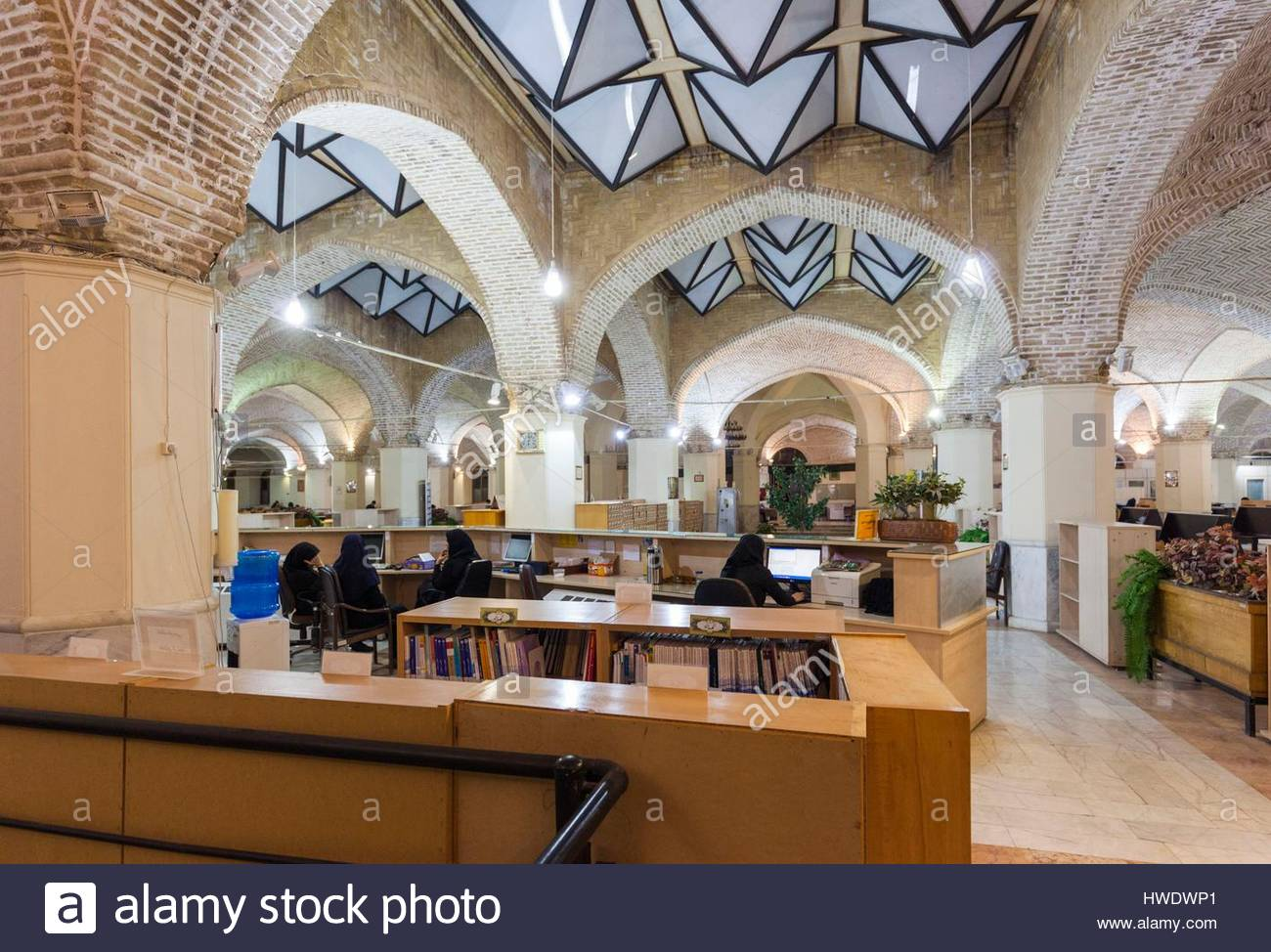 Kerman National Library Kerman, Iran, Southeastern Iran, Kerman, Kerman National Library, interior ...