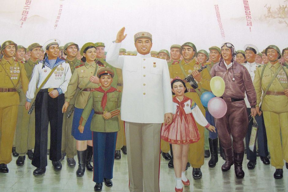 Kim Il-sung Mural Pyongyang, Kim Il-sung mural - ABC News (Australian Broadcasting Corporation)
