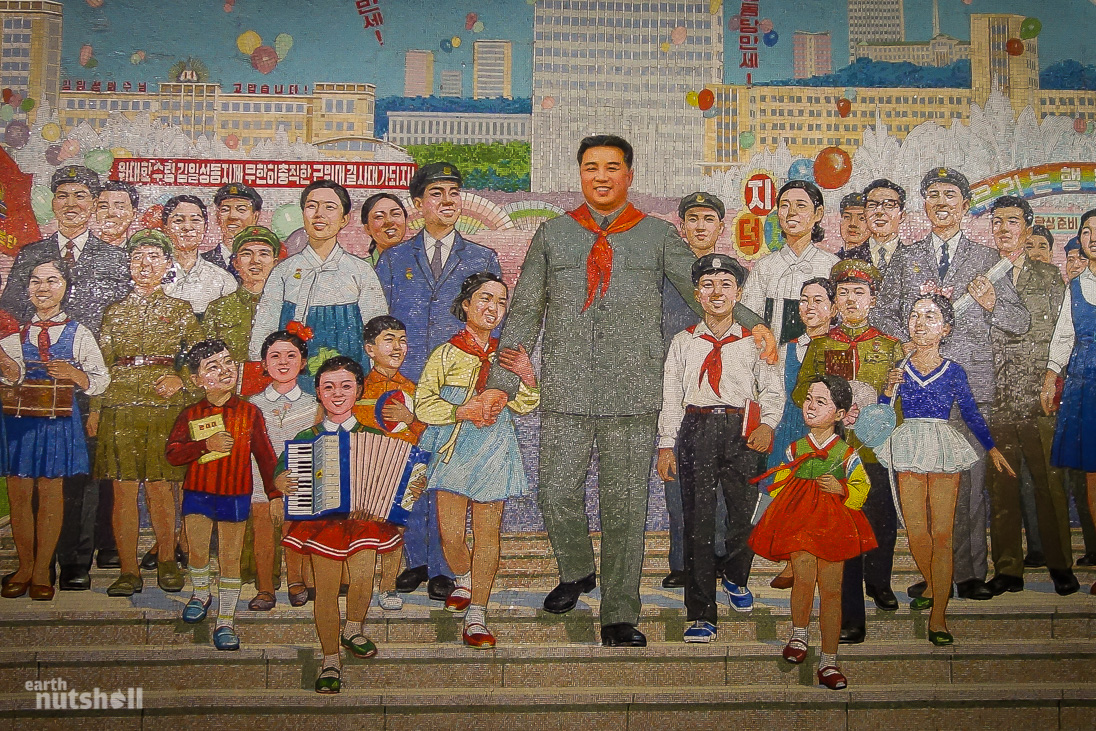Kim Il-sung Mural Pyongyang, Stopping All Stations - The Pyongyang Metro - Earth Nutshell