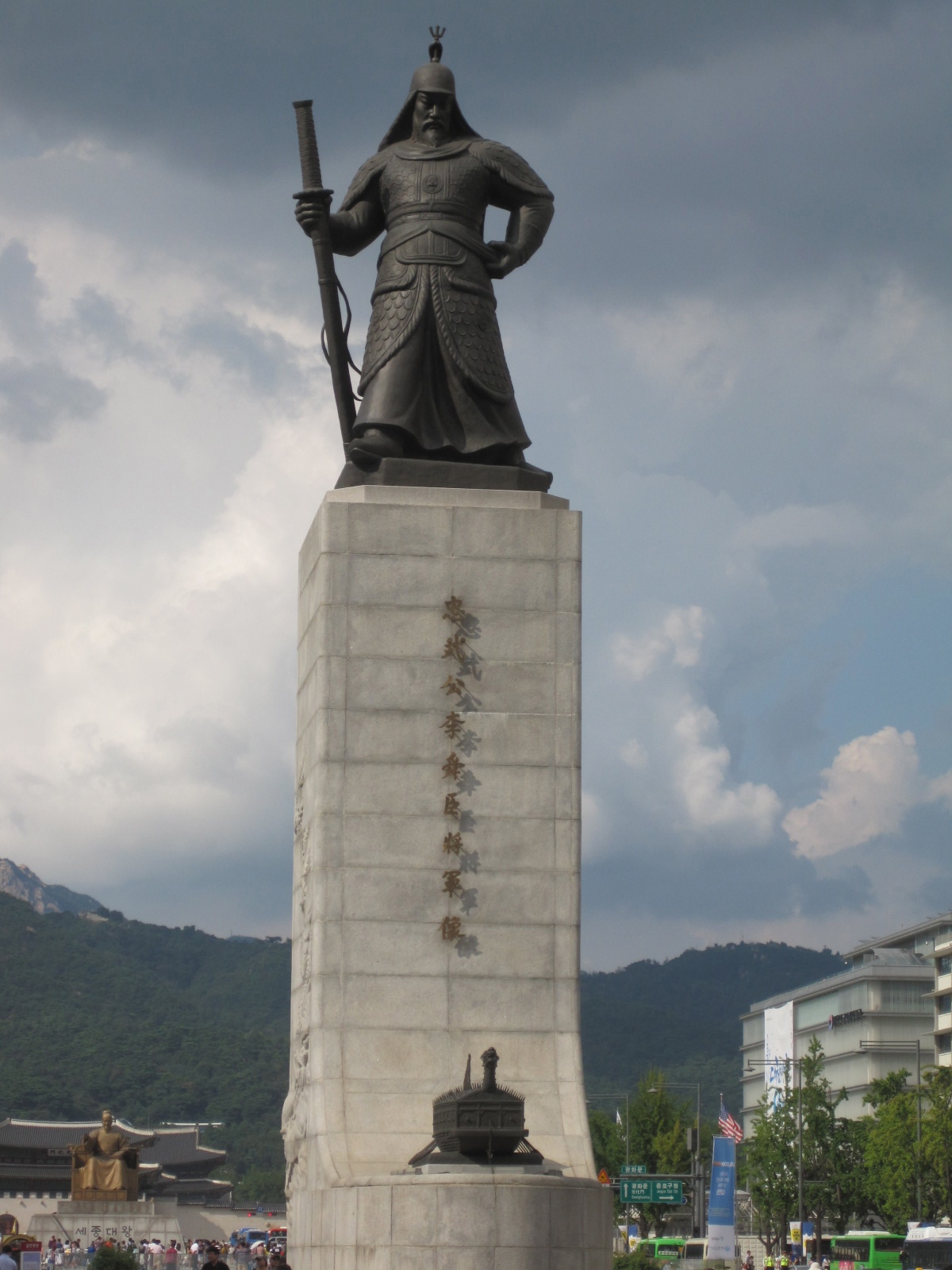 King Sejong Statue Seoul, Gwanghwamun Square – King Sejong and Admiral Yi Guarding the Good ...