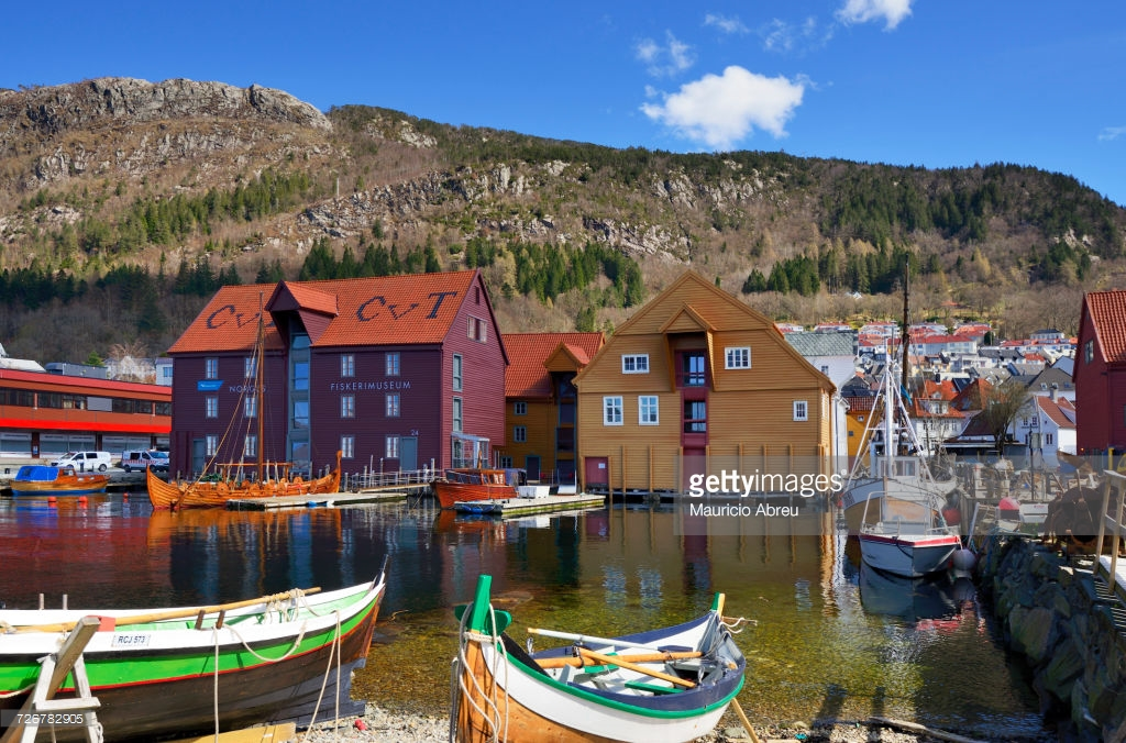 KODE Bergen, Norway Bergen Norwegian Fisheries Museum At Sandviken Stock Photo ...