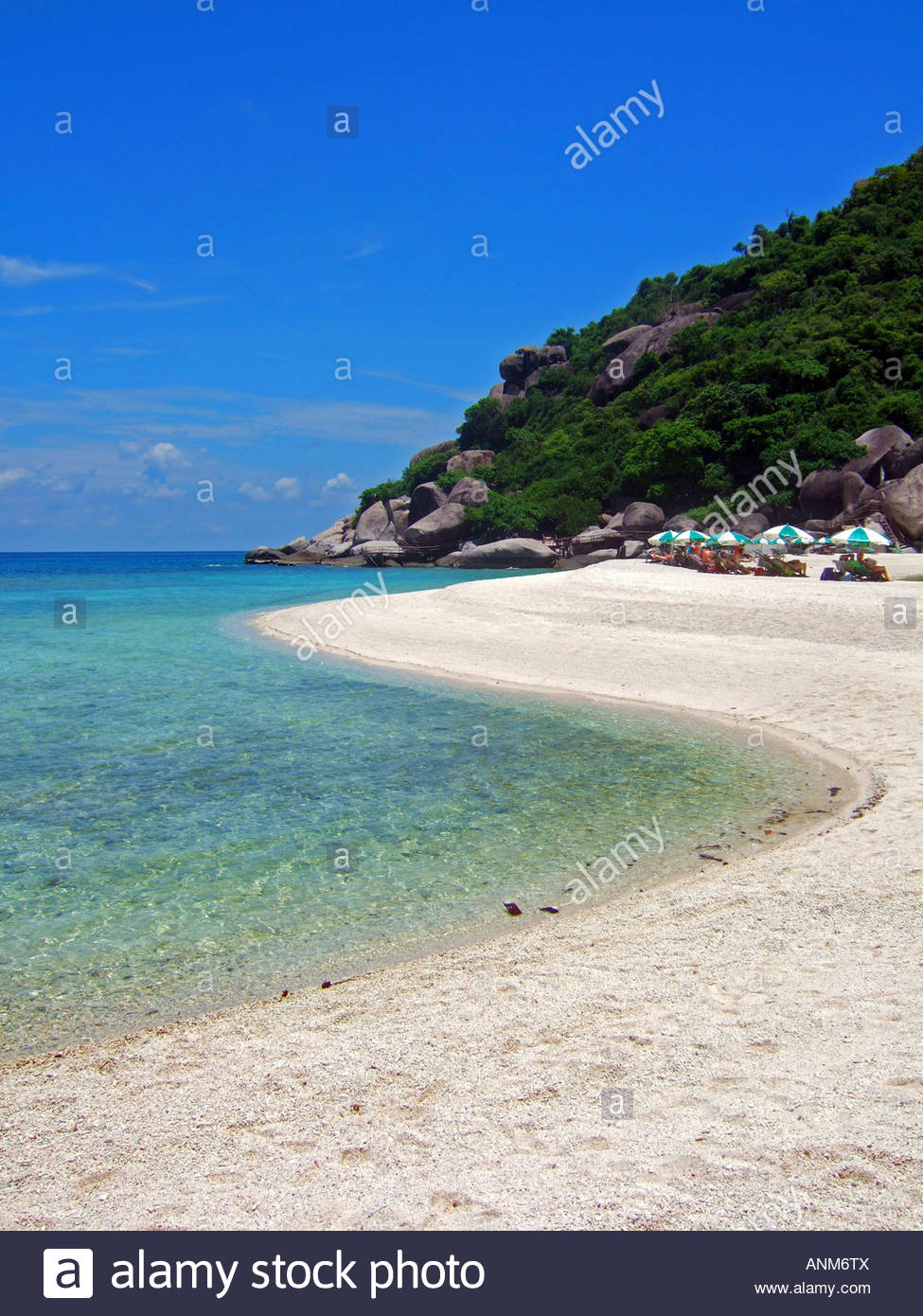 Koh Nang Yuan The Gulf Coast Beaches, Beach on Koh Nang Yuan near Koh Tao Thailand JPH0029 Stock Photo ...