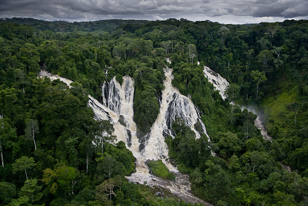 Monts de Cristal National Park West Africa, Djidji Falls, Ivindo National Park, Gabon. Source ...