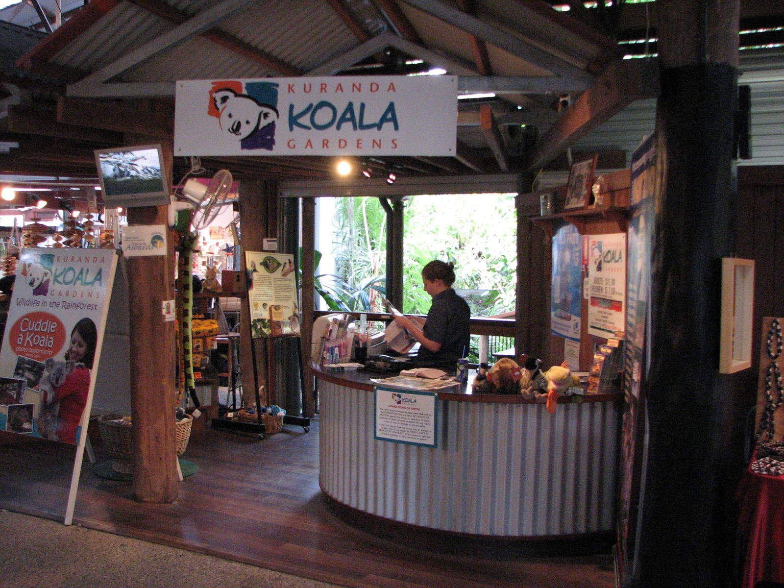 Kuranda Koala Gardens Kuranda, Kuranda Koala Gardens - Entrance to Kuranda Koala Gardens through ...