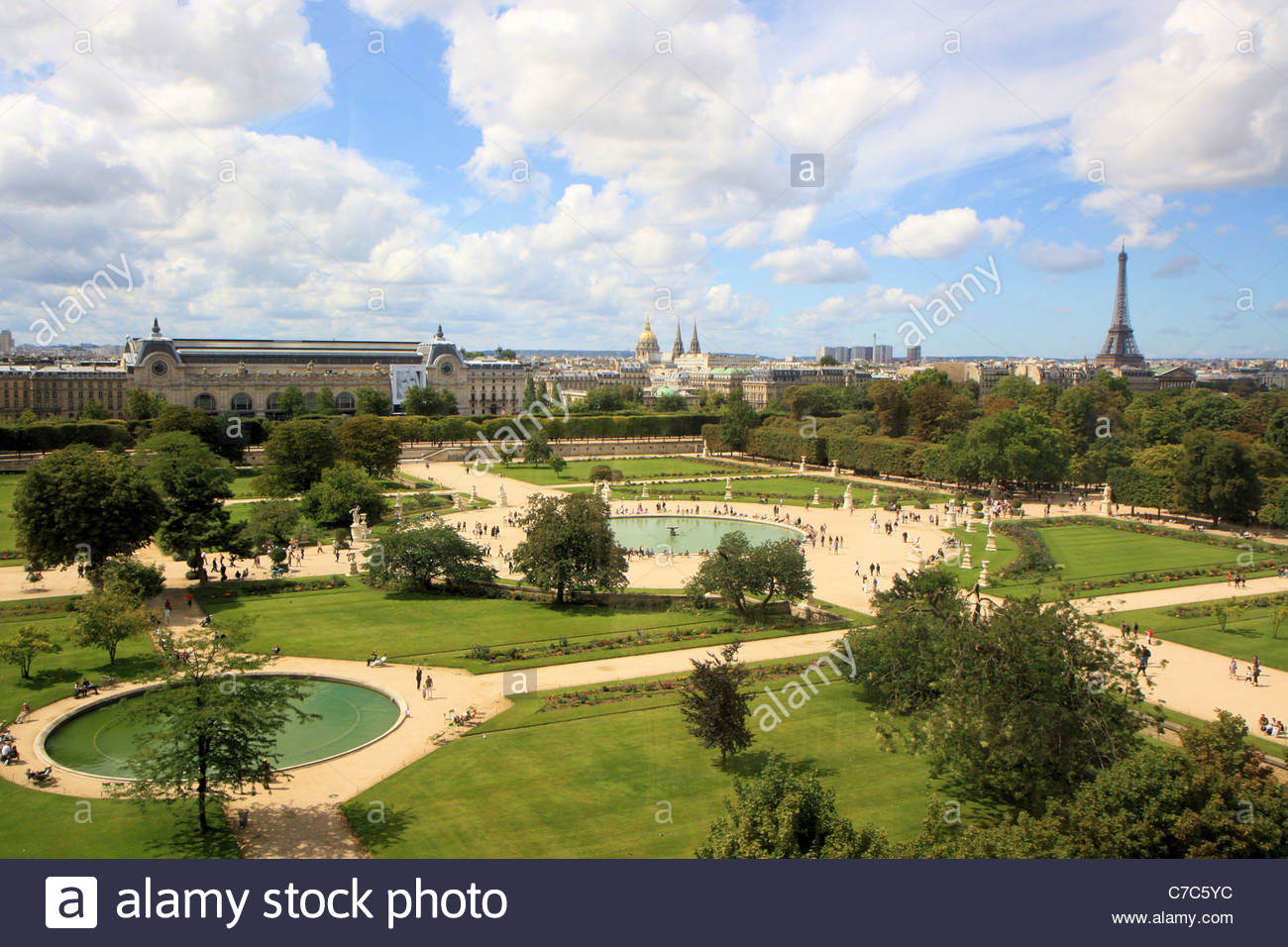 La REcyclerie Paris, Aerial view of Jardin des Tuileries from the great wheel, Paris ...