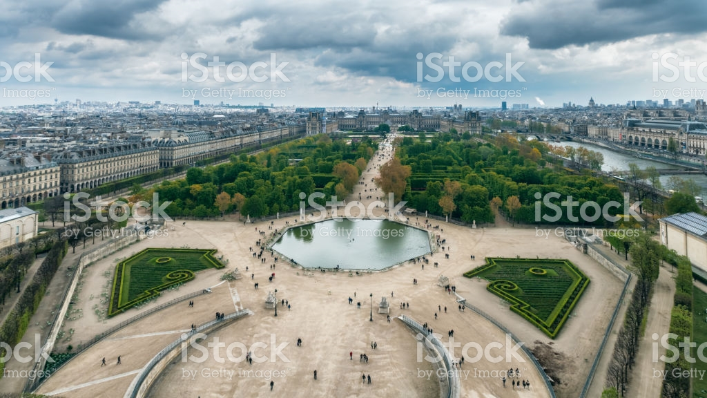 La REcyclerie Paris, Aerial View Of The Tuileries Garden Jardin Des Tuileries Paris ...