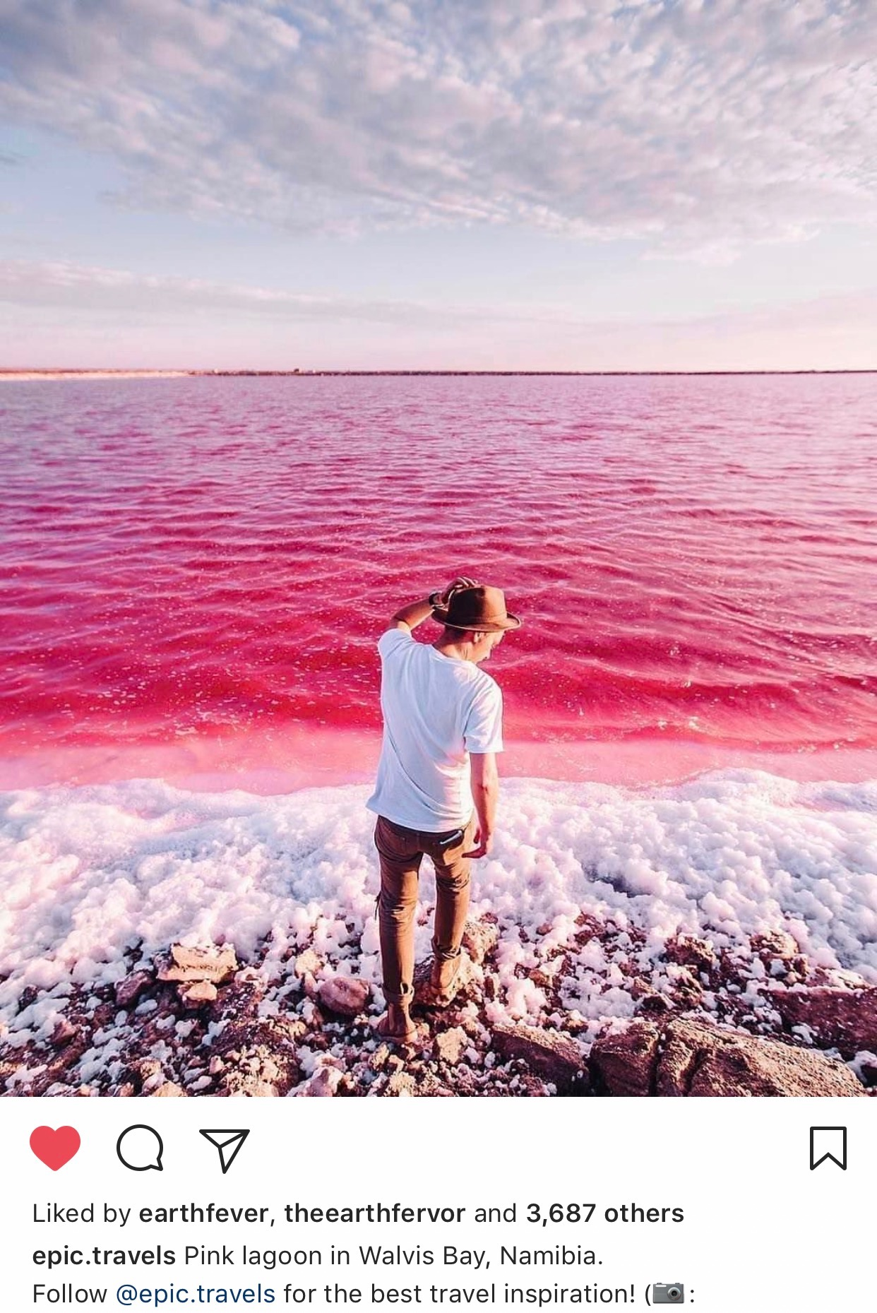 Lagoon Walvis Bay, Pink lagoon in walvis bay, Namibia | Love ~ Travel | Pinterest ...
