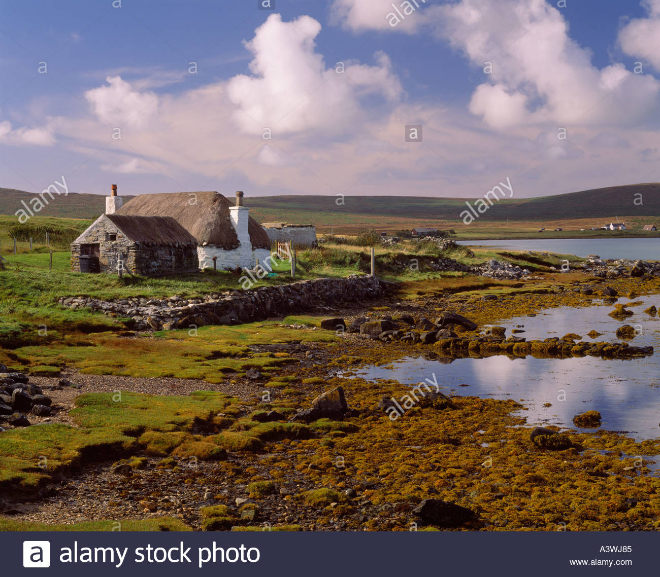 Black House The Northern Highlands and the Western Isles, Traditional Croft Stock Photos & Traditional Croft Stock Images ...