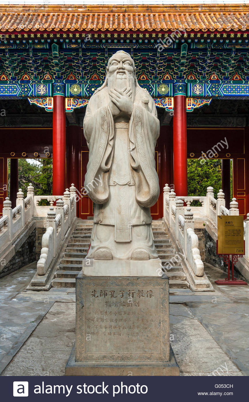 Lao She Museum Běijīng, Statue of Canfucius. Confucius Temple. Beijing. China. The Temple ...