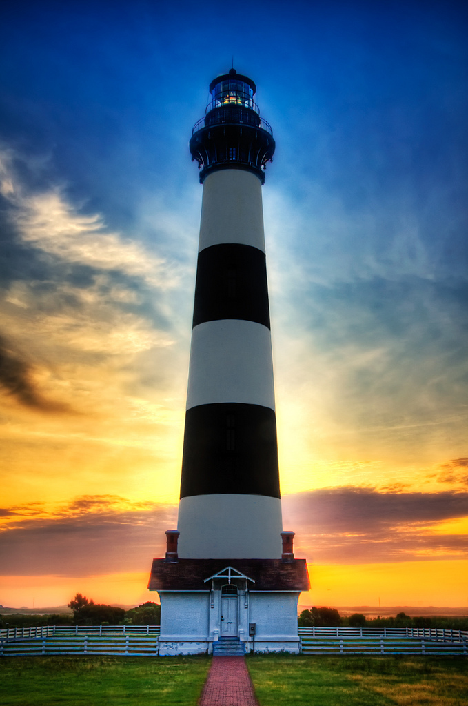 Leadbetter Point State Park Natural Area Oysterville & Nahcotta, Sunset at Bodie Island Lighthouse in Outer Banks, North Carolina ...