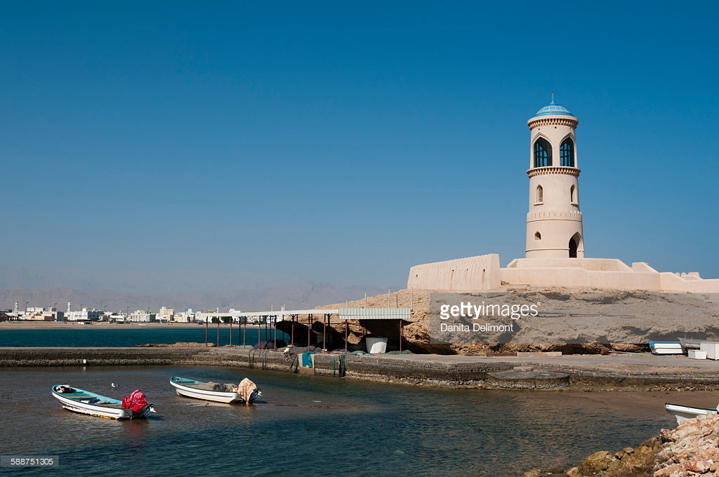 Lighthouse Sur, View Of Lighthouse Sur Oman Stock Photo | Getty Images