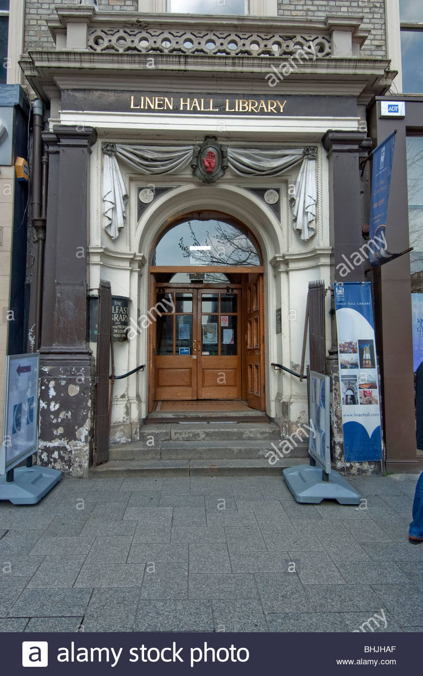 Linen Hall Library Belfast, Front enterance to the Linen Hall Library, Belfast. Ireland's ...
