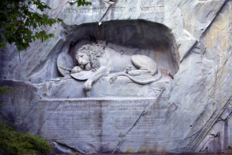 Lion Monument Lucerne, Picture of the Day: The Lion Monument of Lucerne, Switzerland ...