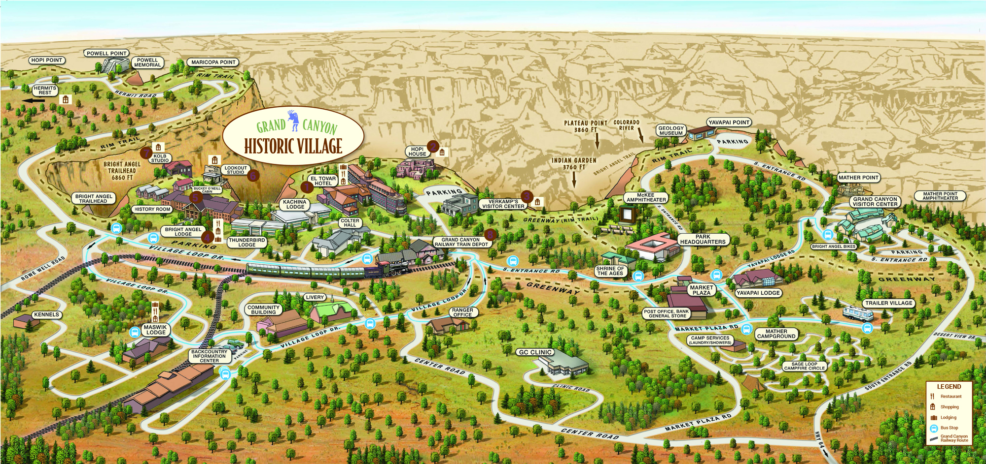 grand canyon sightseeing map Lookout Studio Usa 2019 grand canyon sightseeing map