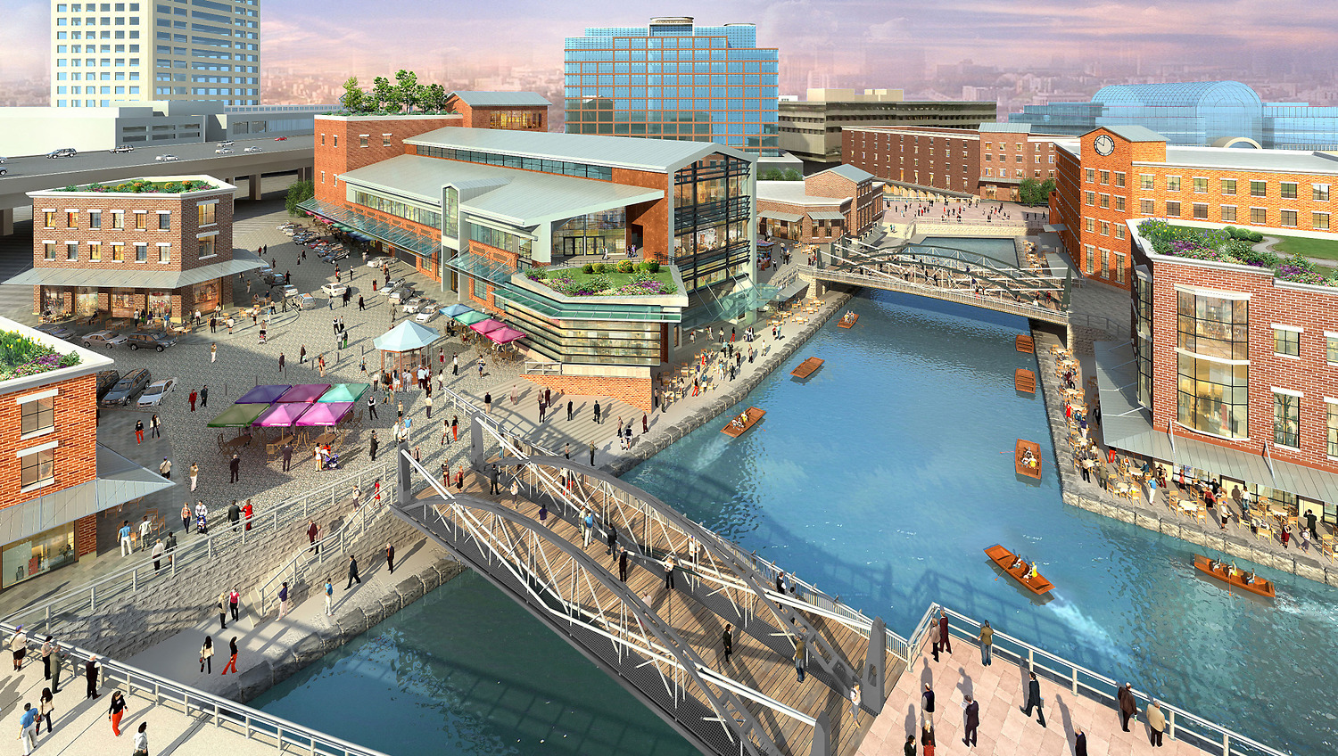 Magic Hat Brewery Burlington, Perkins Eastman | Buffalo Waterfront Canal Side