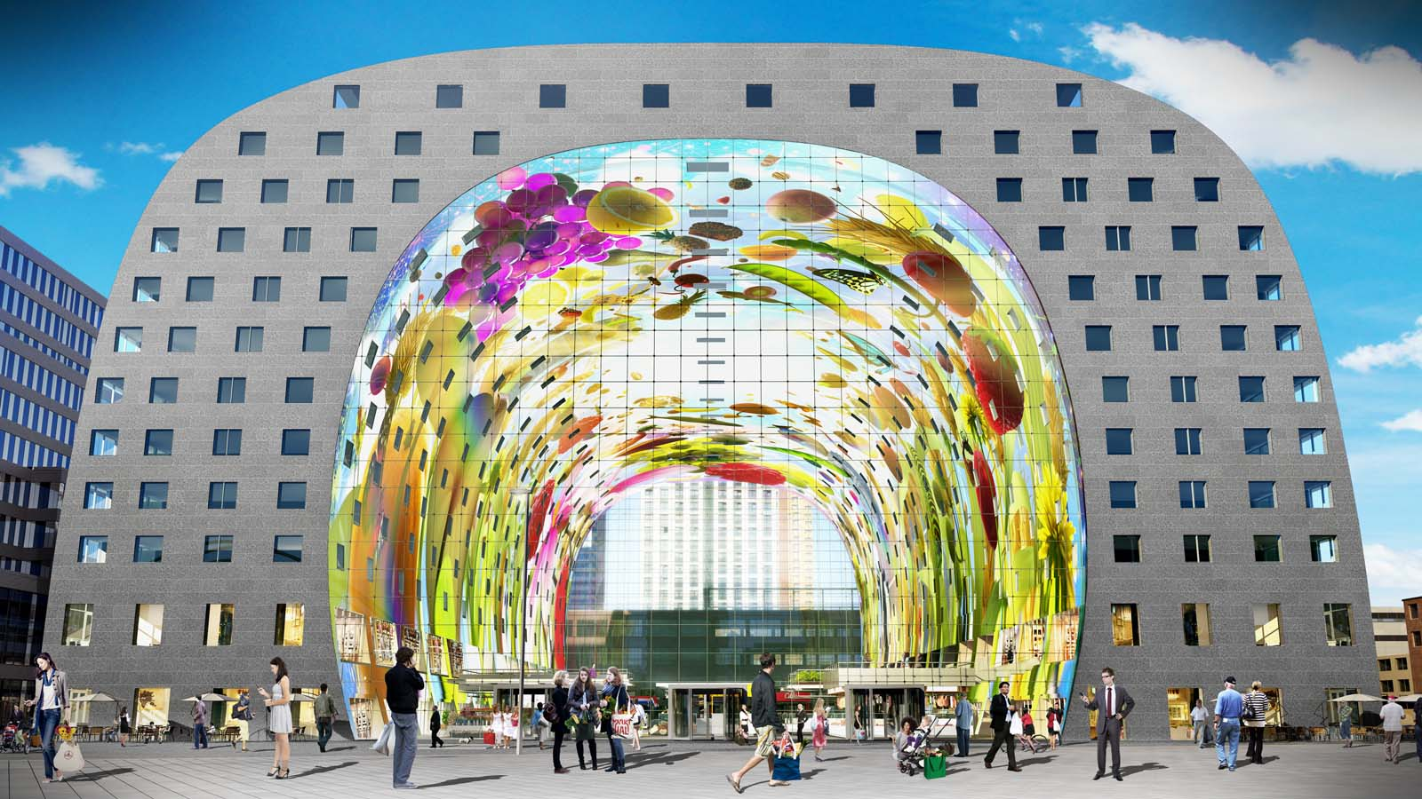 Markthal Rotterdam, MARKTHAL ROTTERDAM: AN OUTSTANDING 36,000 SQ FT MURAL IS DECORATED ...