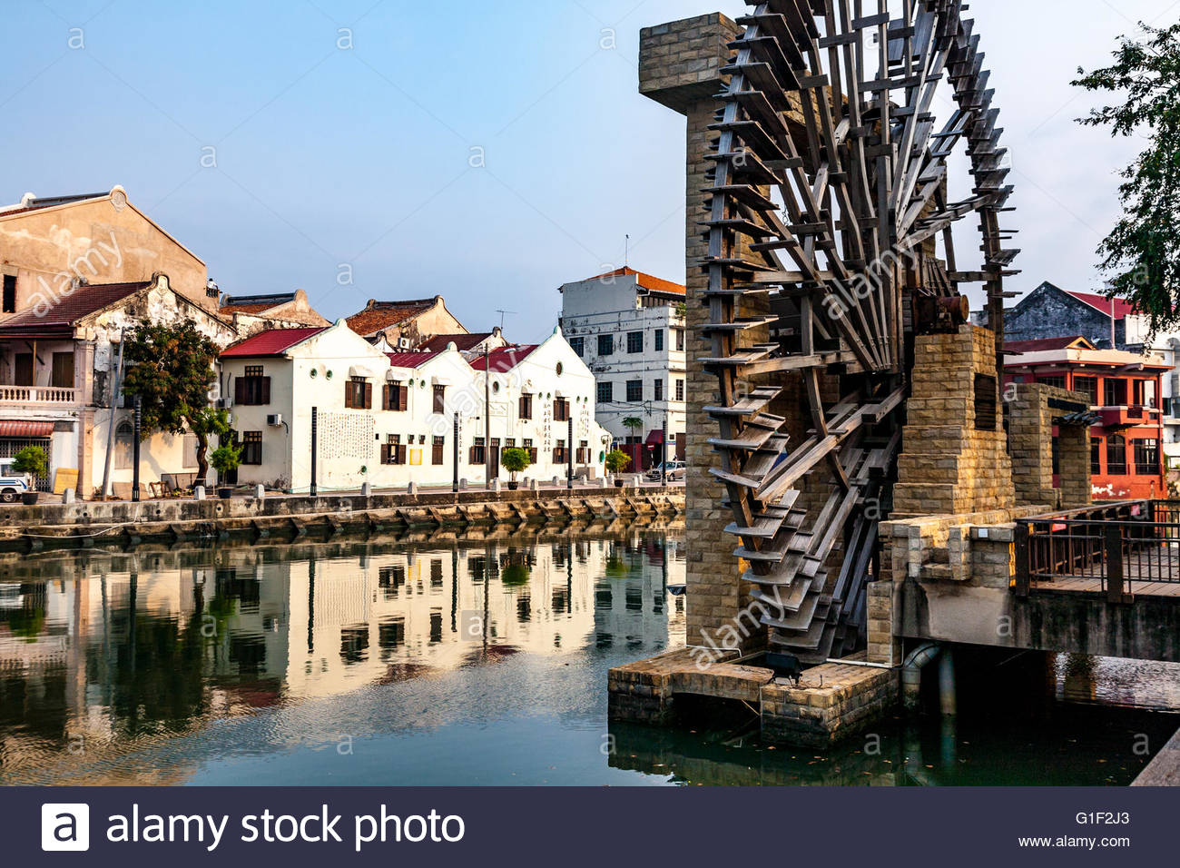 Melaka Malay Sultanate Water Wheel Melaka City, Malaysia Malacca The Malacca Sultanate water wheel Stock Photo ...