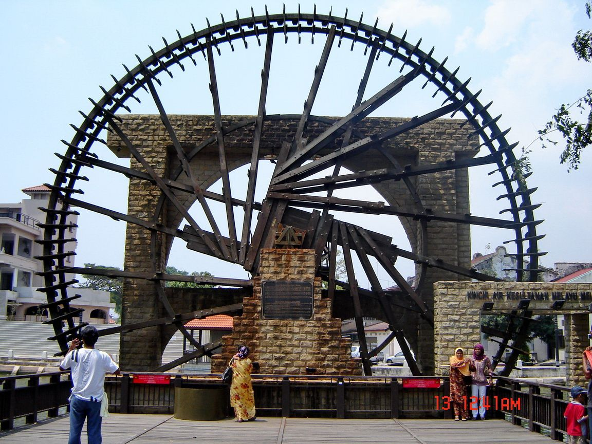 Melaka Malay Sultanate Water Wheel Melaka City, The Melaka River and The Water Wheel in Malacca, One of World ...