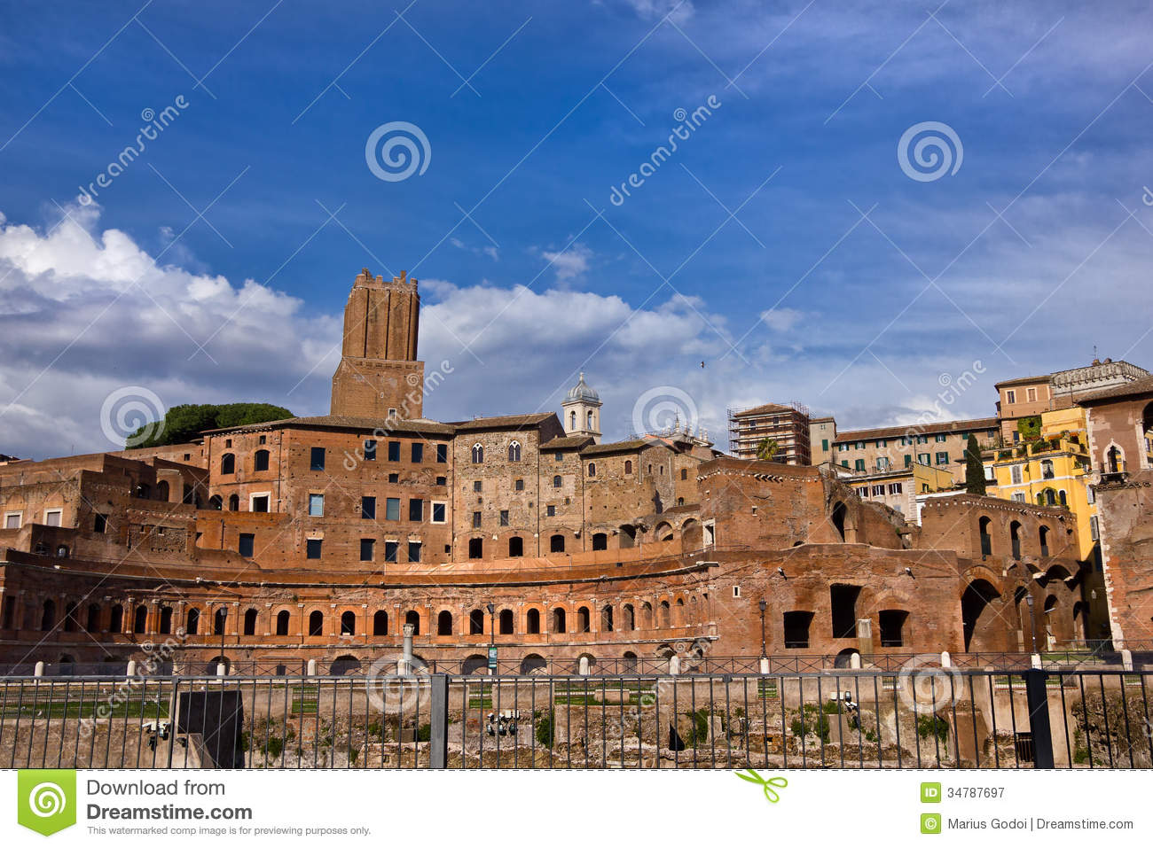 Middle Market The Ancient City, Roman Ruins In Rome Italy Royalty Free Stock Photography - Image ...