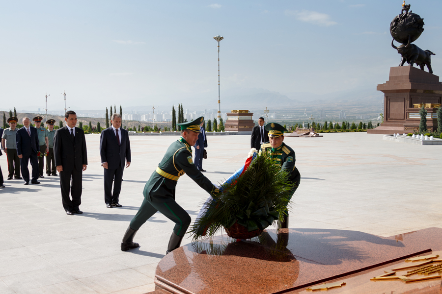 Ministry of Defence Ashgabat, Working visit of the Russian Defence Minister General of the Army ...
