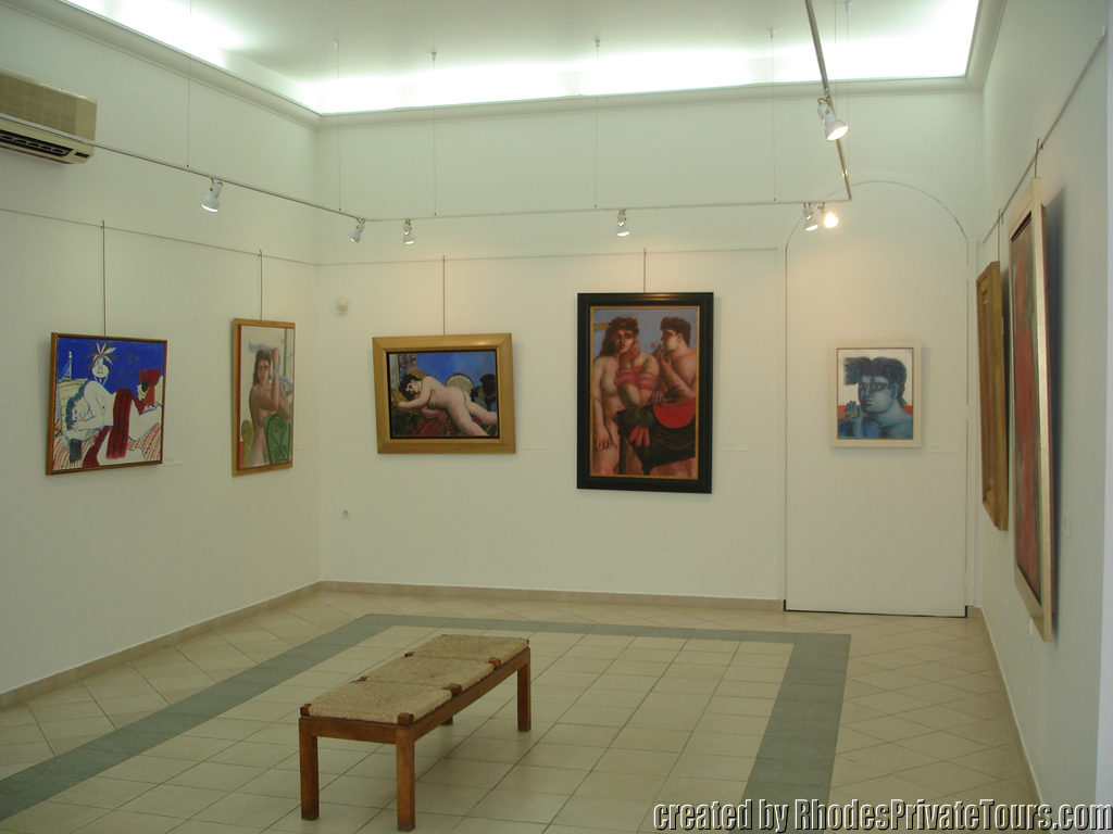 Modern Greek Art Museum Rhodes Town, Modern Greek Art Museum of Rhodes Greece, Rhodes private tours