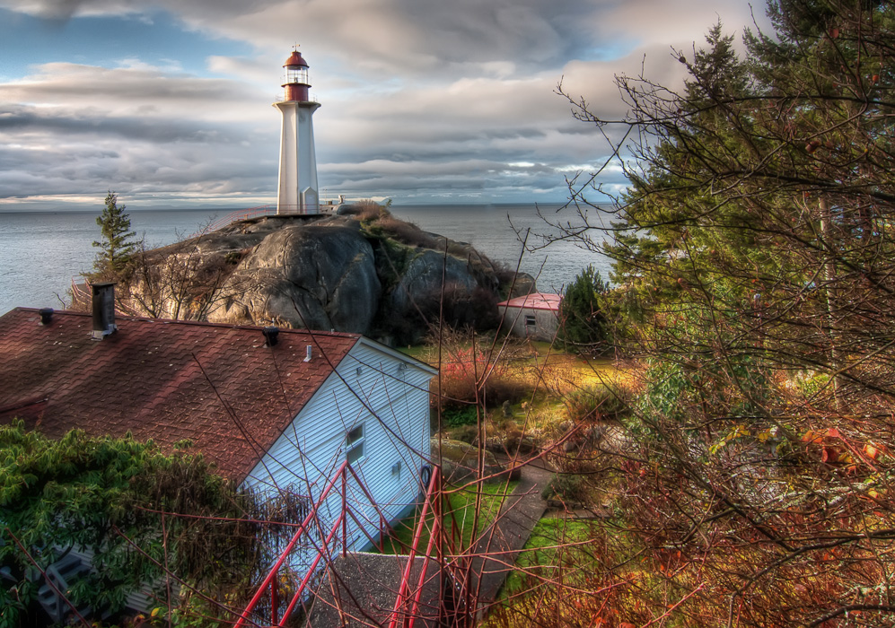 Monte Clark Gallery Vancouver, Lighthouse Park Royalty Free Stock Photo