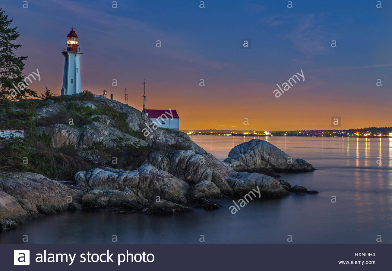 Monte Clark Gallery Vancouver, Point Atkinson Lighthouse Park Vancouver BC Canada Stock Photo ...