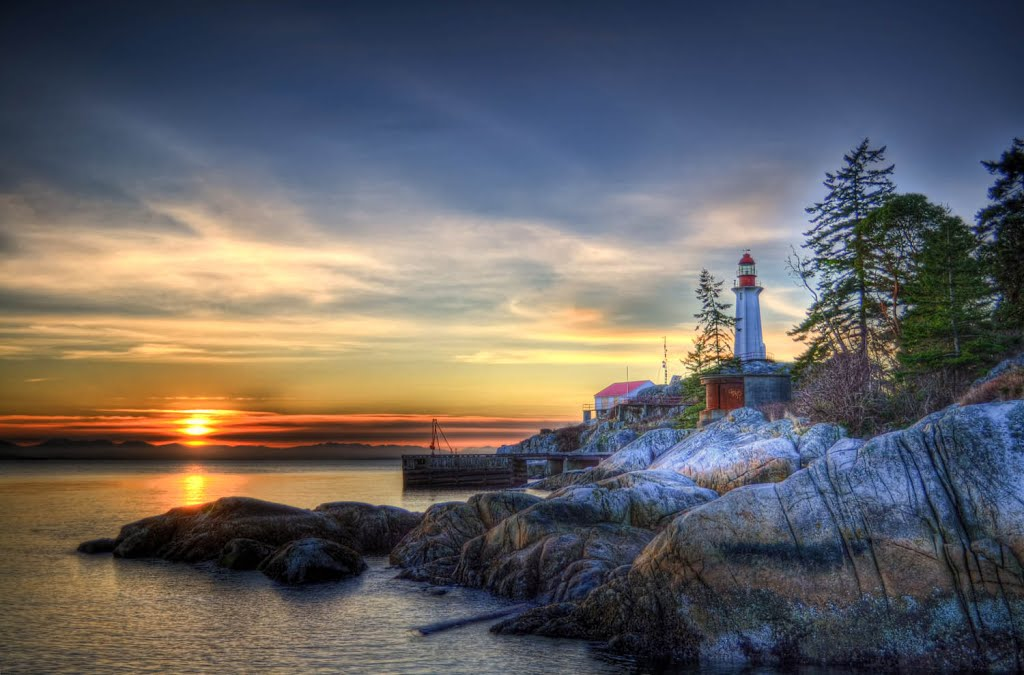 Monte Clark Gallery Vancouver, Panoramio - Photo of Point Atkinson Lighthouse at Sunset ...