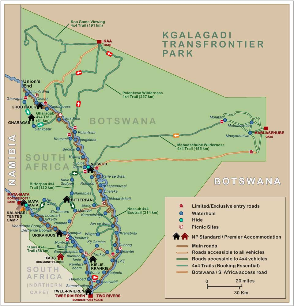 Mooiplaas Picnic Spot Kruger National Park, Kgalagadi Transfrontier Park. The map is featured on a ...